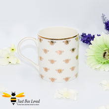 Load image into Gallery viewer, Luxurious ivory fine China tea coffee mug from the Leonardo Golden Queen Bee collection, gift box presented.