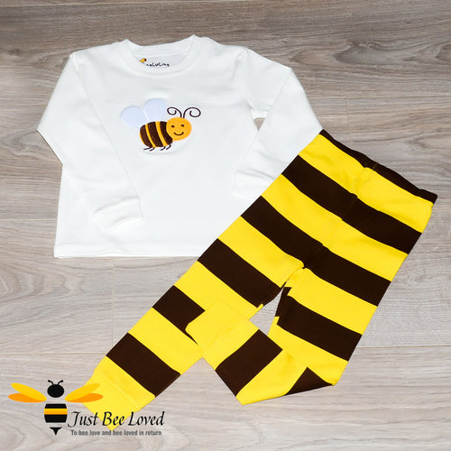 children's cotton pyjamas nightwear set with bee design