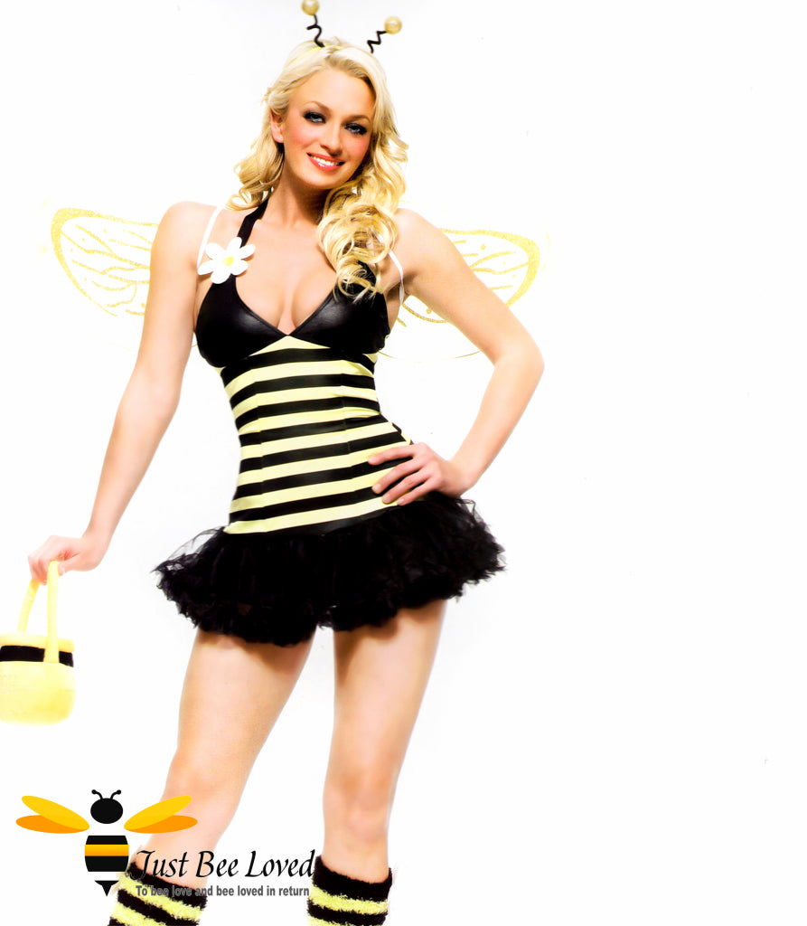 Women's Daisy Bee 4 Piece Fancy Dress Bee Costume