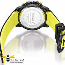 Load image into Gallery viewer, MEGIR Chronograph Men's Sports Wrist Watch Black and Yellow Colours