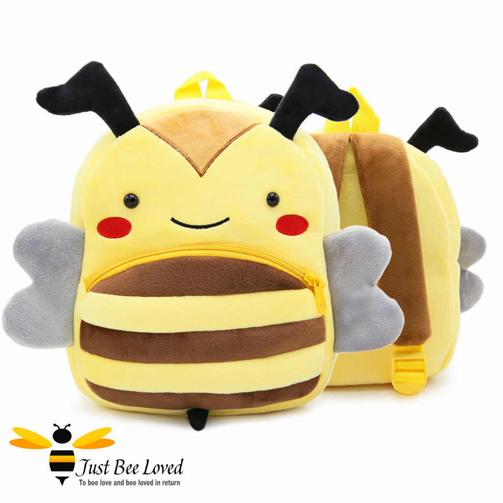 Just Bee Loved Children's Plush Bee Shaped Backpack