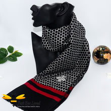 Load image into Gallery viewer, men's faux cashmere scarf with honeycomb and bee design