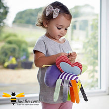 Load image into Gallery viewer, Bee Pushchair Hanging Bee Clip Toy Teether