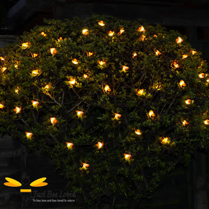 Garden Honey Bee Solar Lights 10 metres 50 led lights on tree