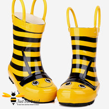 Load image into Gallery viewer, Children's Kids bumble bee wellington rain boots