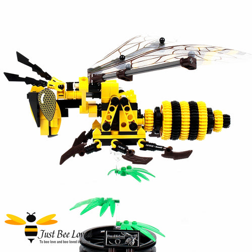 Bee Building Lego Block Set featuring 236 pieces and simulated Bee model