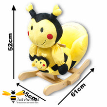 Load image into Gallery viewer, Rock My Baby Musical Bee Rocking Chair