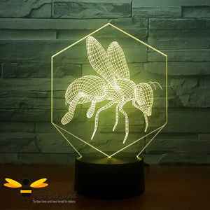 3D Optical Illusion Honey Bee Colour Changing Lamp