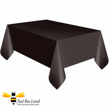 Load image into Gallery viewer, Black Reusable Party Table Cover Bee Party Supplies & Fancy Dress