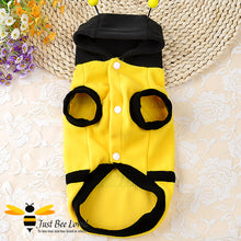 Load image into Gallery viewer, Bumblebee fleece coat fancy dress costume for dogs and puppies