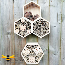 Load image into Gallery viewer, Triple hexagon bee and insect hotels