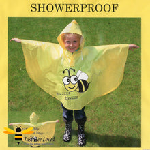 Load image into Gallery viewer, Children's Buzzy Bees Yellow Hooded Poncho Raincoat