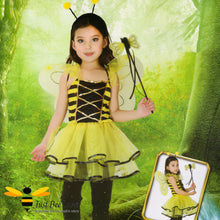 Load image into Gallery viewer, Lovely Bee Fairy 3 Piece Fancy Dress Bee Costume
