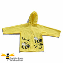 Load image into Gallery viewer, Children's Buzzy Bees Yellow Raincoat