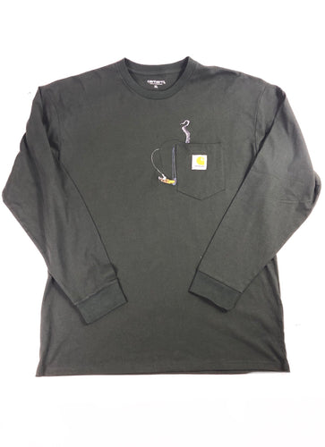 "Carhartt World Gone Mad"" Long Sleeve (Green)"