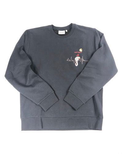 "Carhartt ""World Gone Mad"" Crewneck (Navy)"