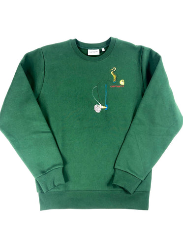 "Carhartt ""World Gone Mad"" Crewneck (Green)"
