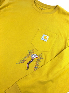 "Carhartt World Gone Mad"" Long Sleeve (Yellow)"