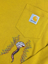 "Load image into Gallery viewer, Carhartt World Gone Mad"" Long Sleeve (Yellow)"