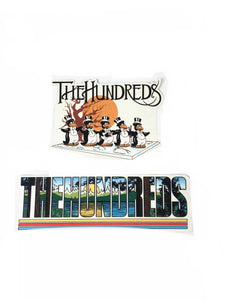 Twin Pack The Hundreds Stickers