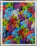 "GRAFFITI ARTIST SEEN  -  ""Multi Tags #5""  Aerosol on  Canvas"