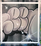 "GRAFFITI ARTIST SEEN  -  ""Super Bubble""  Aerosol on  Canvas"