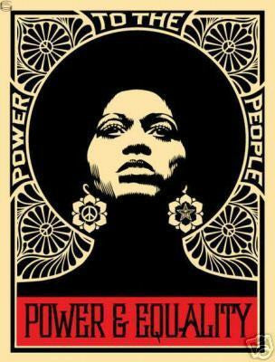 "SHEPARD FAIREY - ""Afrocentric Blk"""