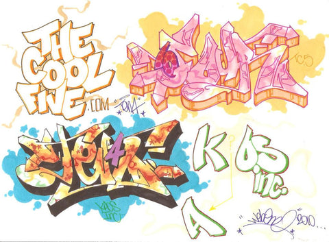 "WEB - ""2 4 One Ten4""  Blackbook Drawing"