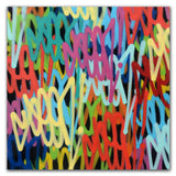 "GRAFFITI ARTIST SEEN  -  "" Multi Tags""  Aerosol on  Canvas"