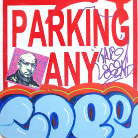 "COPE 2 - ""Blue Classic Bubble 35"" No Parking Sign"