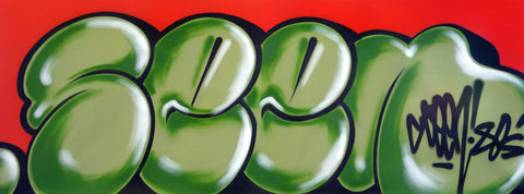 "GRAFFITI ARTIST SEEN -  ""Classic Bubble""  Aerosol on Canvas"
