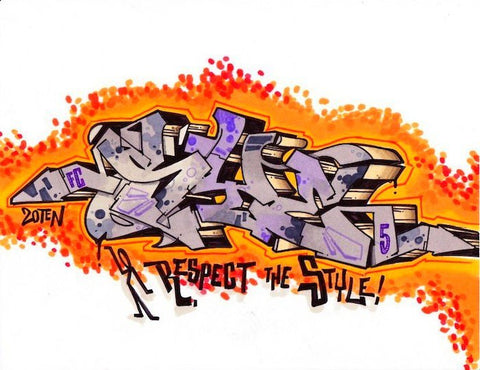 "SYE - ""Respect The Style""  Blackbook Drawing #5"
