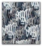 "GRAFFITI ARTIST SEEN  -  ""Grey Tags #2""  Aerosol on  Canvas"