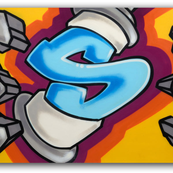 "GRAFFITI ARTIST SEEN  -  ""Exploding Can""  Aerosol"
