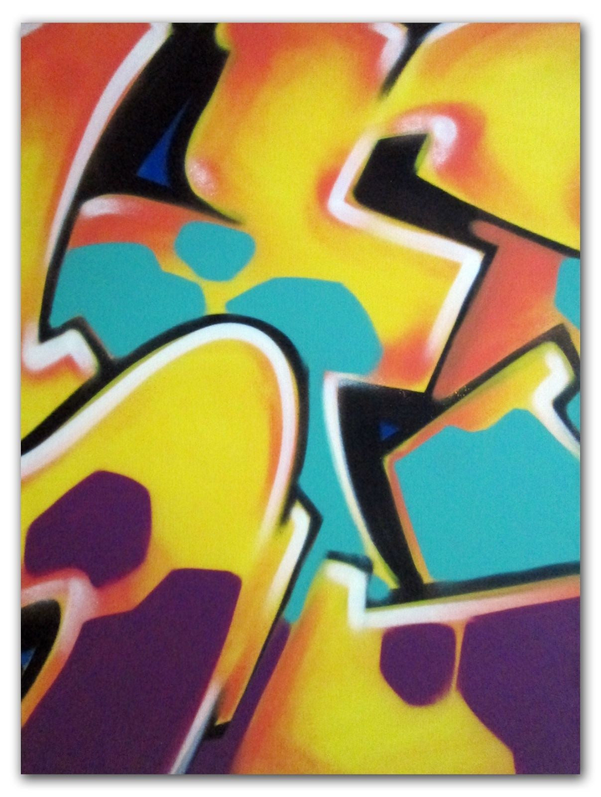 "GRAFFITI ARTIST SEEN -  ""Untitled""  Painting on Canvas"