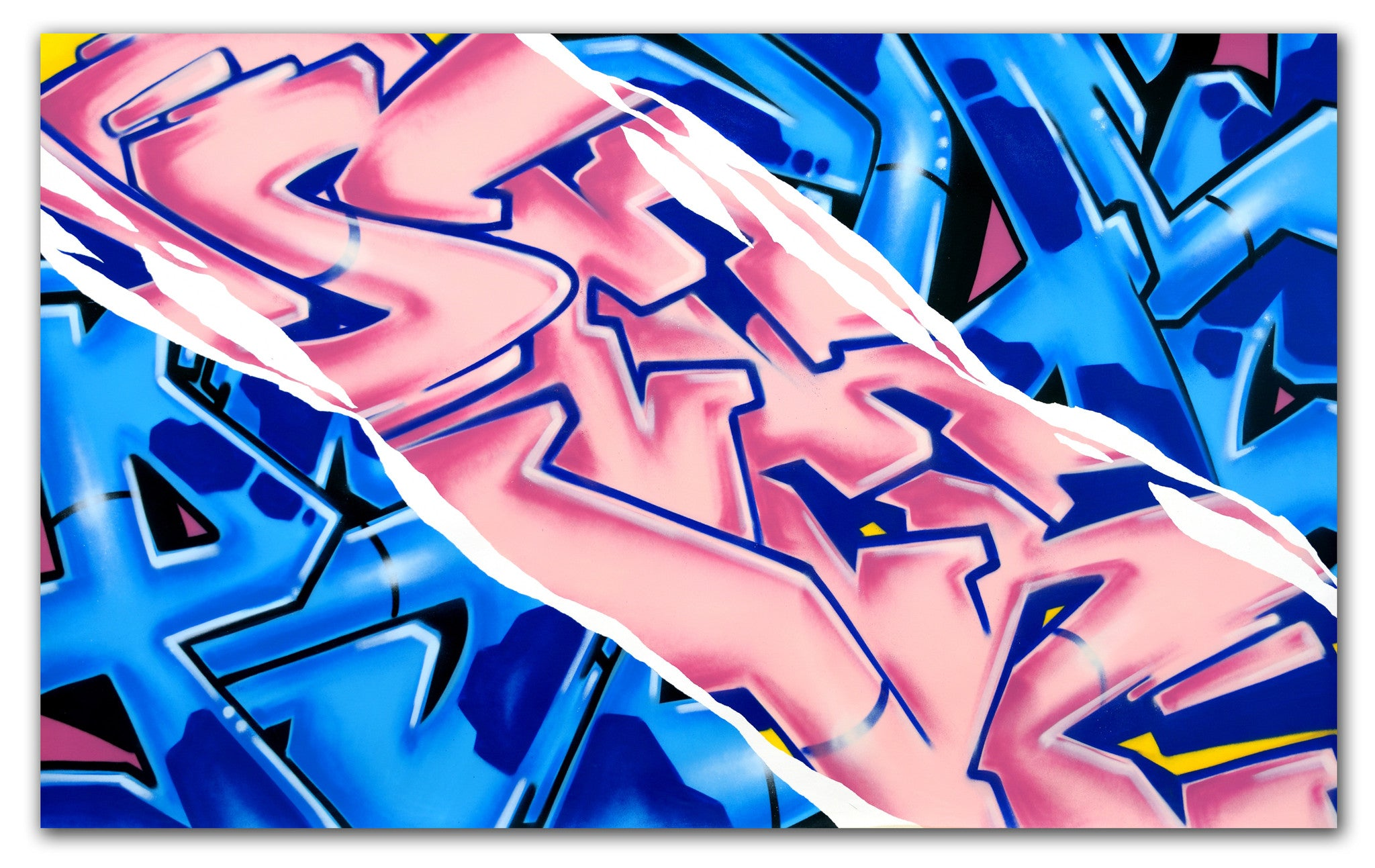 "GRAFFITI ARTIST SEEN -  ""PSYCHO/SEEN""  Aerosol on Canvas"