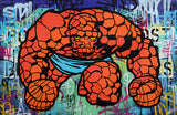 "GRAFFITI ARTIST SEEN  -  ""The Thing""  Aerosol on  Canvas"