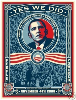 SHEPARD FAIREY - Yes We Did Obama Stickers
