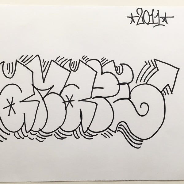 AMAZE  - Black Book Drawing