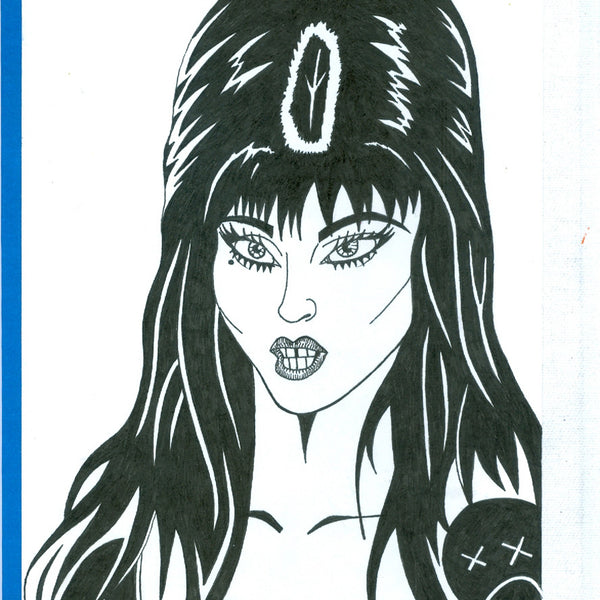 "ALBERT REYES - ""Elvira ""Drawing"