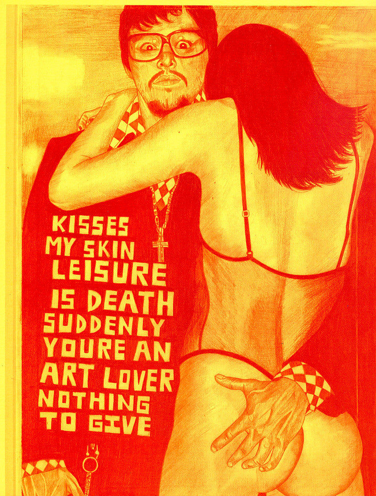 "ALBERT REYES -  ""Leisure is death""  Print"