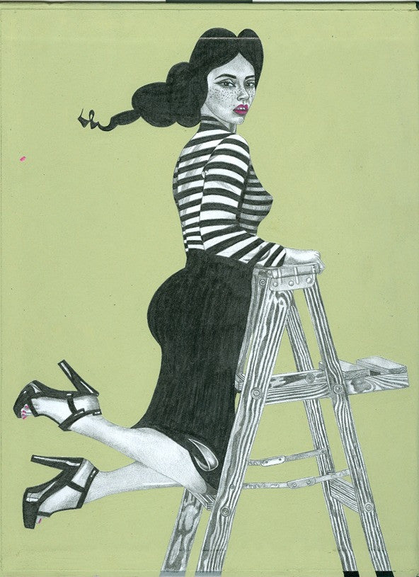 "ALBERT REYES -  ""Girl on Ladder"""