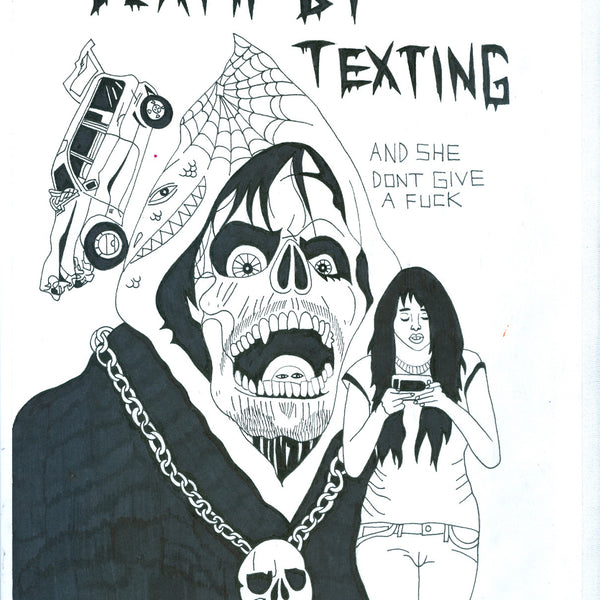 "ALBERT REYES - ""Death by Texting ""Drawing"