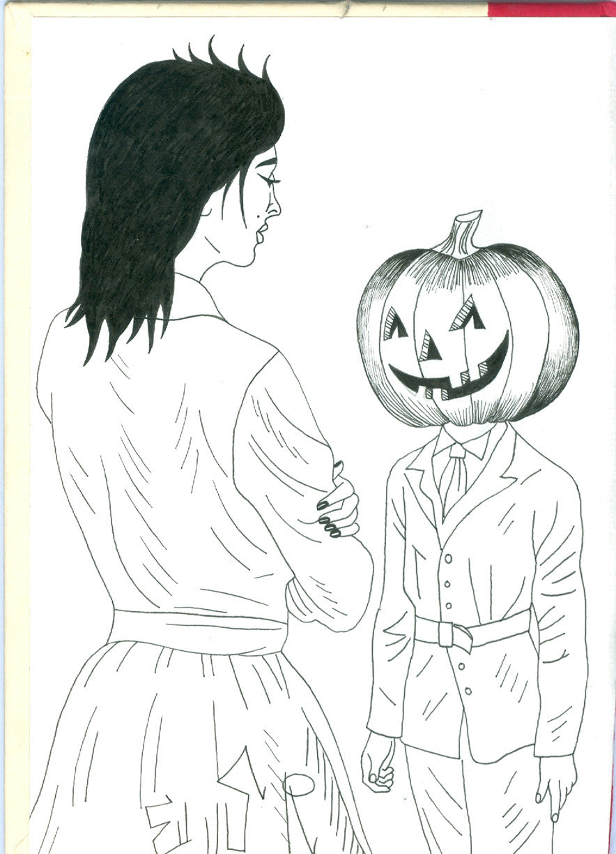 "ALBERT REYES - ""Pumpkin Head ""Drawing"