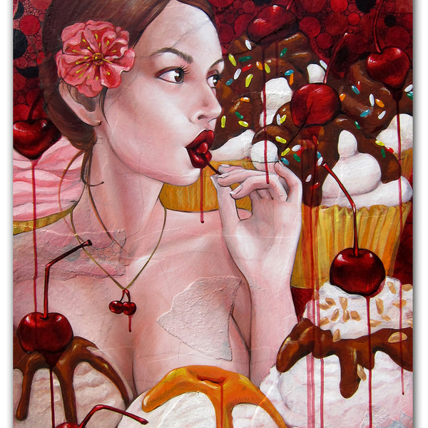 "AMANDA LYNN "" Cherry's on Top"" Painting"