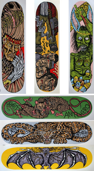 DENNIS McNETT - Antihero Board Prints (Set of 6)