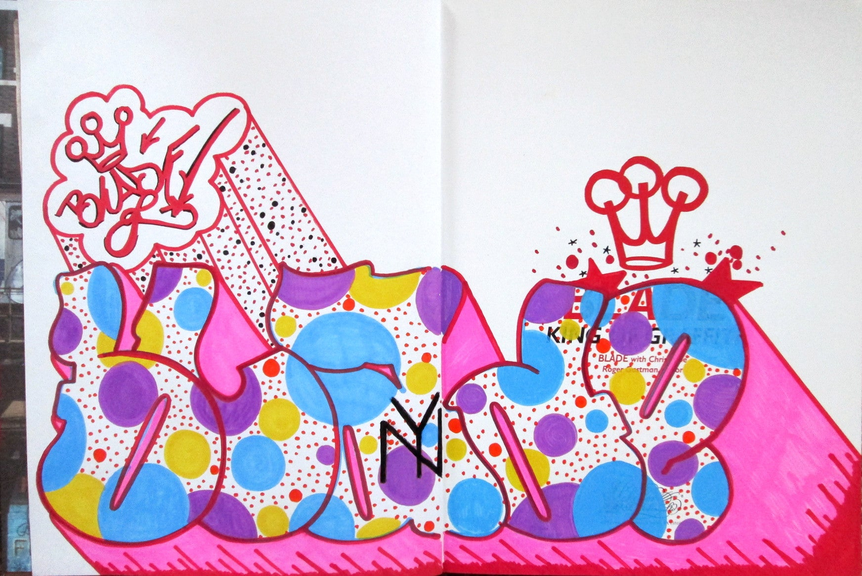"BLADE - ""King of graffiti"" Custom Book Drawing 5"