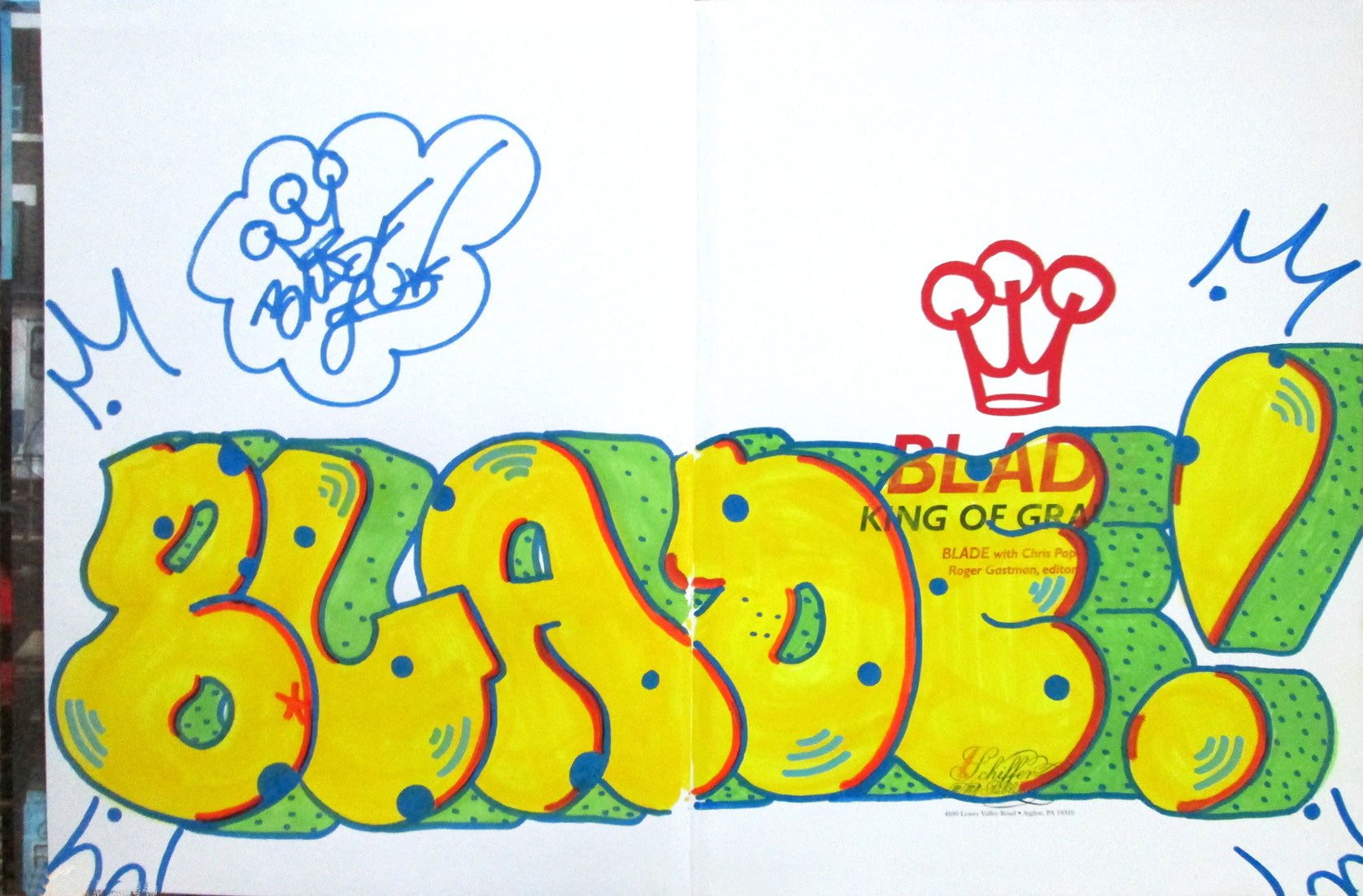 "BLADE - ""King of graffiti"" Custom Book Drawing 9"