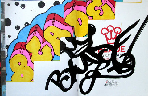 "BLADE - ""King of graffiti"" Custom Book Drawing 7"