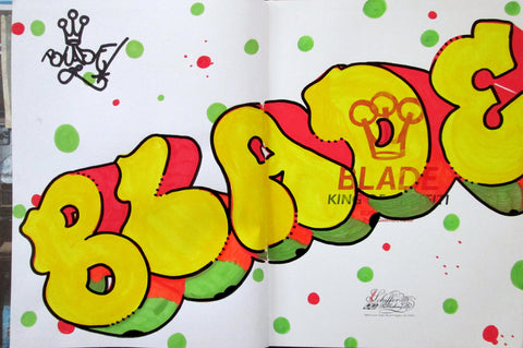 "BLADE - ""King of graffiti"" Custom Book Drawing 8"